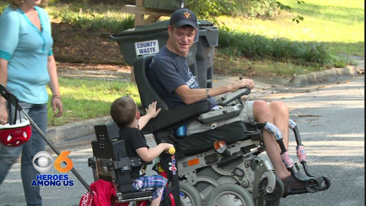 Paralyzed veteran makes sure paralyzed children have bikes to ride