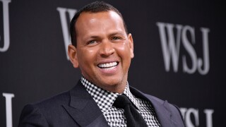 Sports commentator and former professional baseball player Alex Rodriguez takes part in a panel during WSJ's The Future of Everything Festival at Spring Studios on May 8, 2018 in New York City.