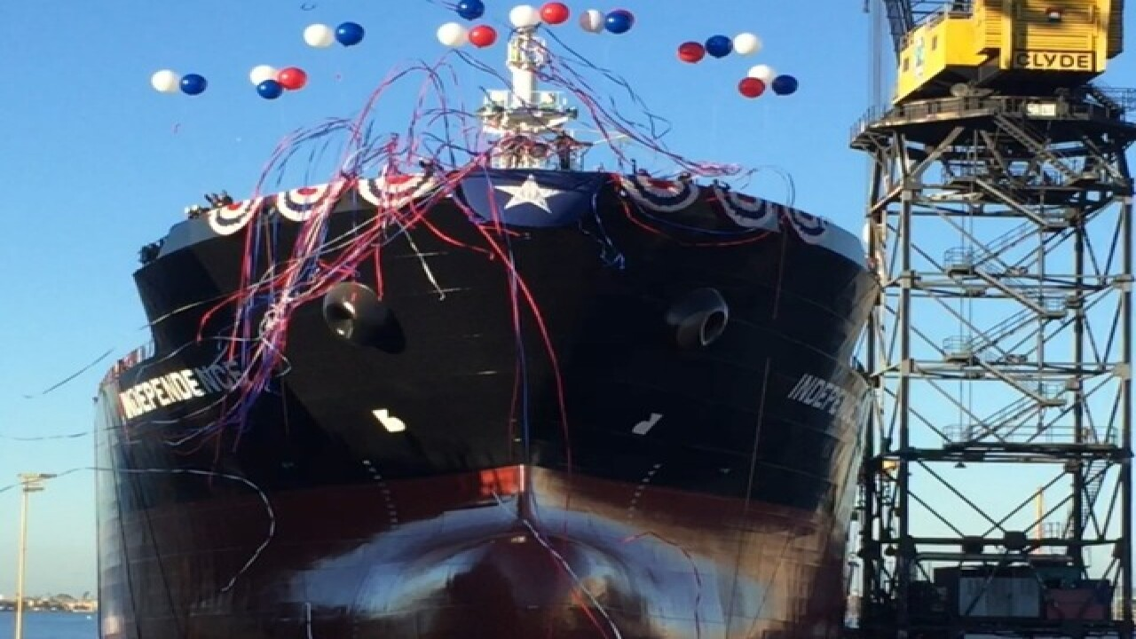 NASSCO launches second new tanker ship