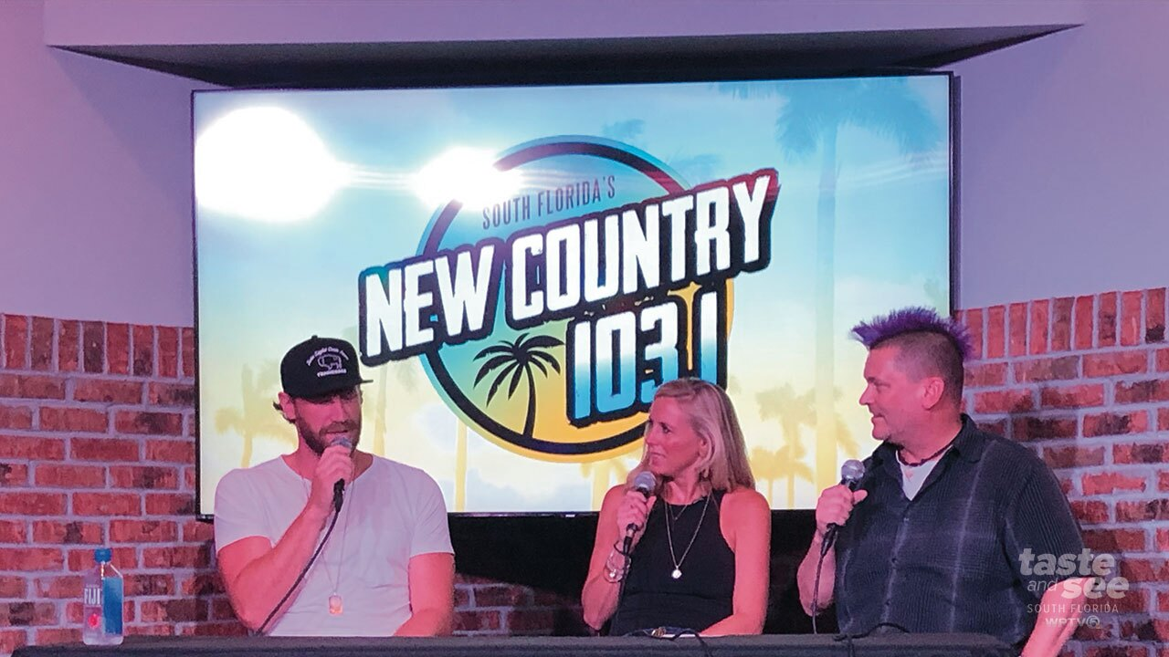 Wednesday night in Rosemary Square a country superstar, Chase Rice, made an appearance at Copper Blues which is attached to the Palm Beach Improv.