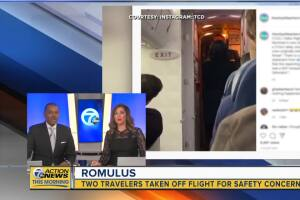 Two travelers removed from flight for safety concerns in Romulus