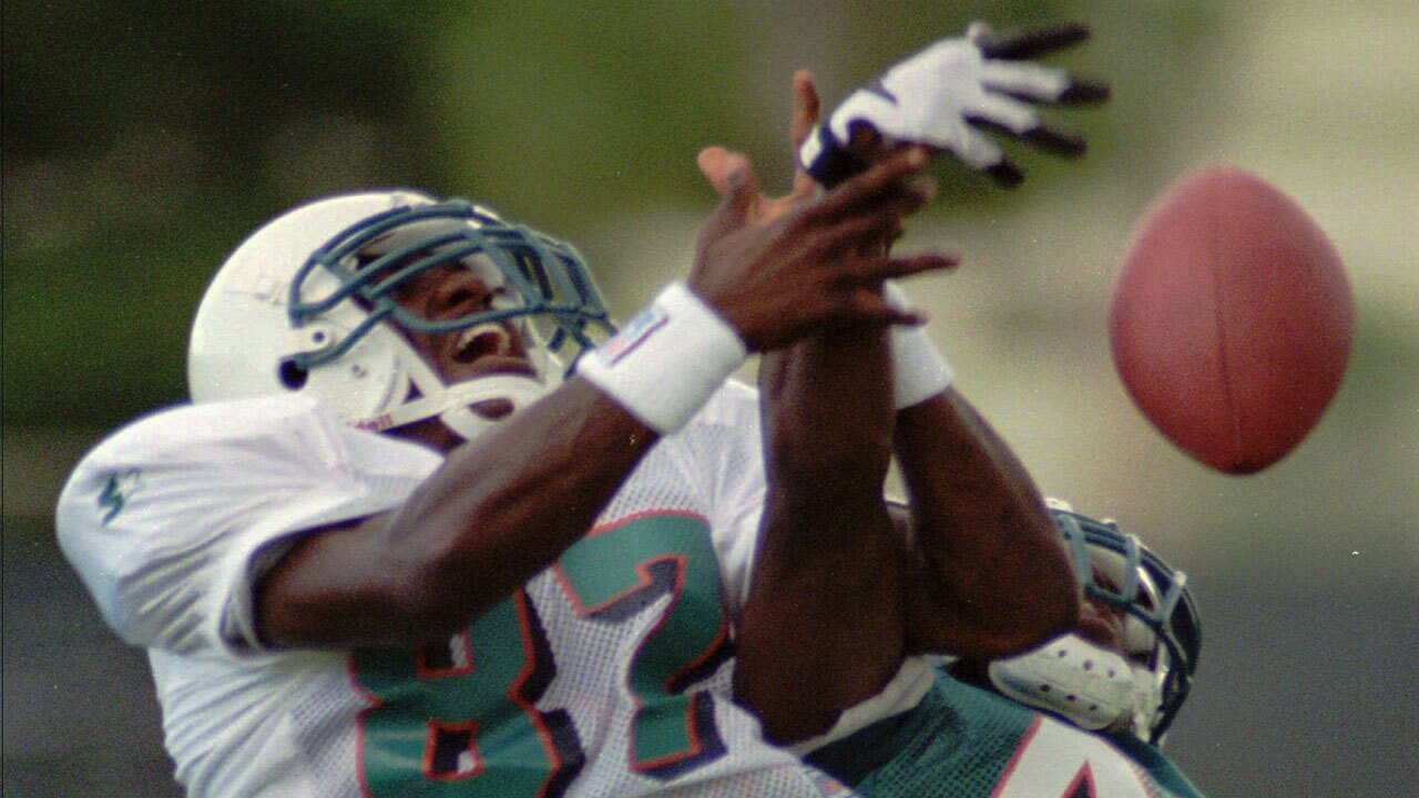 Yatil Green at Miami Dolphins practice in 1997