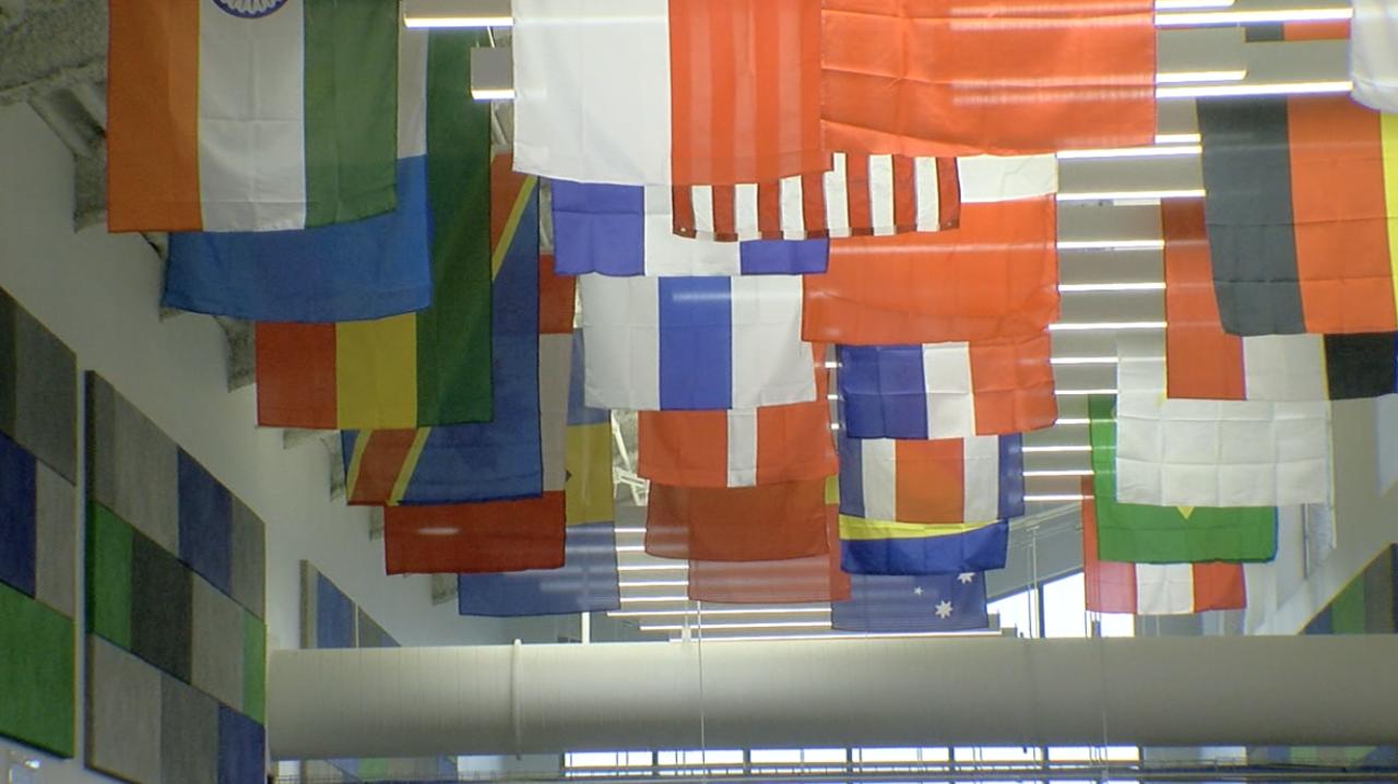 Winton Woods flags