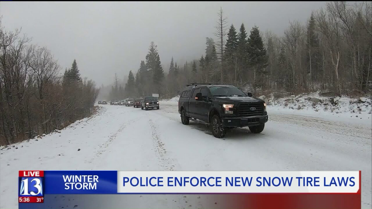 UPD writes tickets for new law in Cottonwood Canyons after snow causes crashes andslide-offs