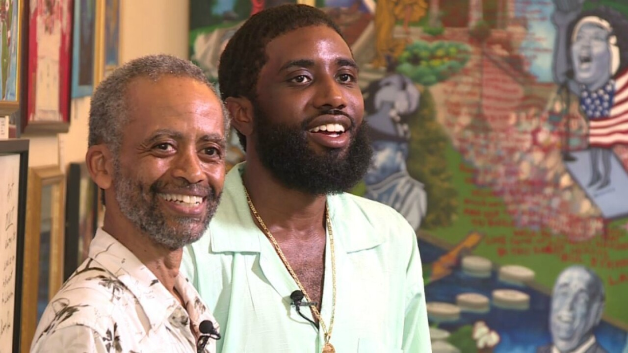 Father and son inspire Richmond through their art