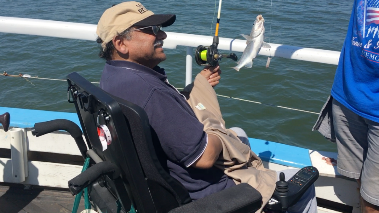 Veterans with spinal injuries get a day out on the water in Yorktown