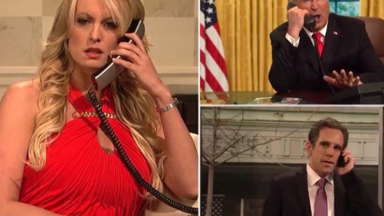 Stormy Daniels makes cameo on 'SNL' to mock President Trump