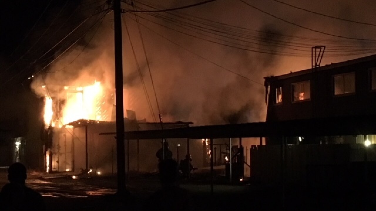 Apartment fire in Central Bakersfield