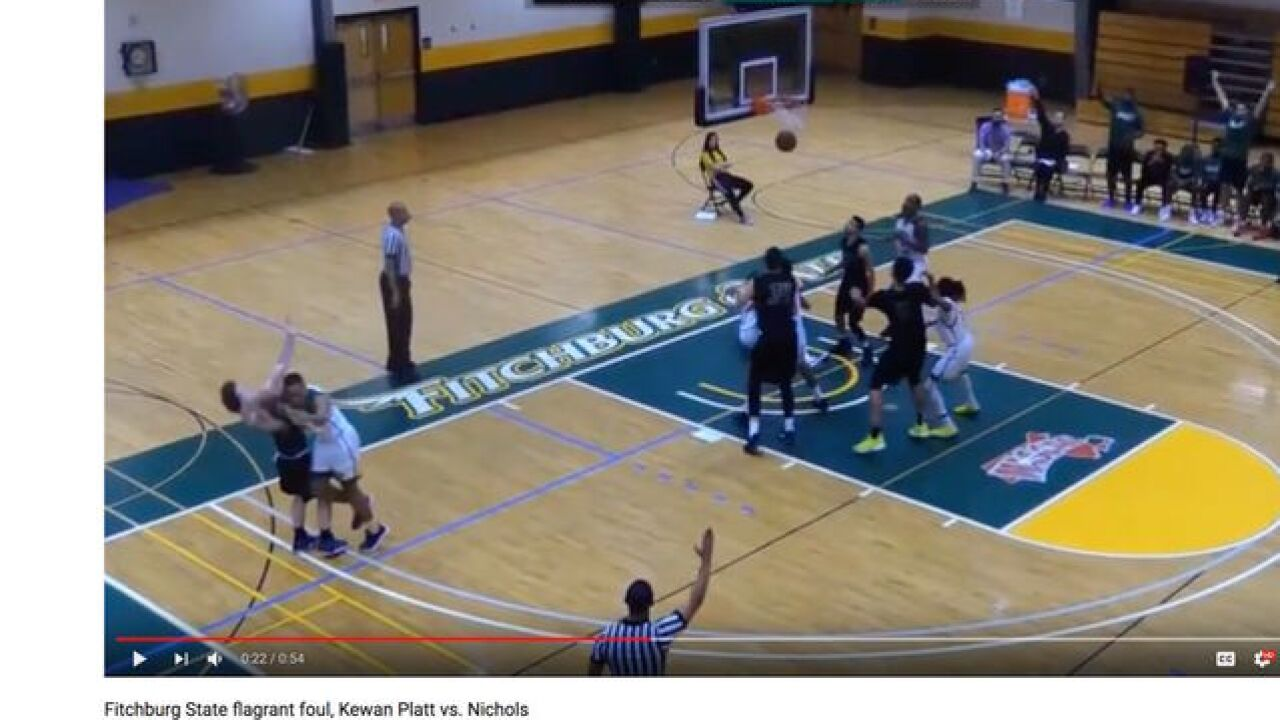 College basketball player under fire for elbowing opponent in face, video