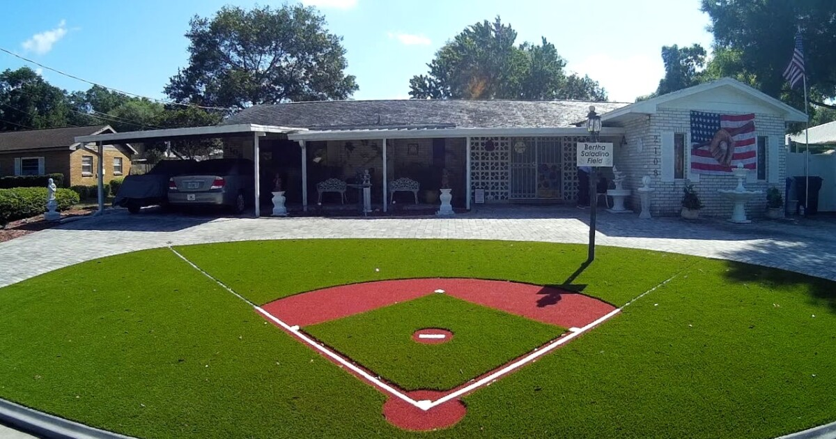 Local baseball legend builds his version of field of dreams outside front door