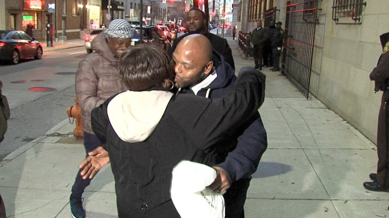 A Baltimore man is free after spending 27 years in prison for a crime he didn't commit