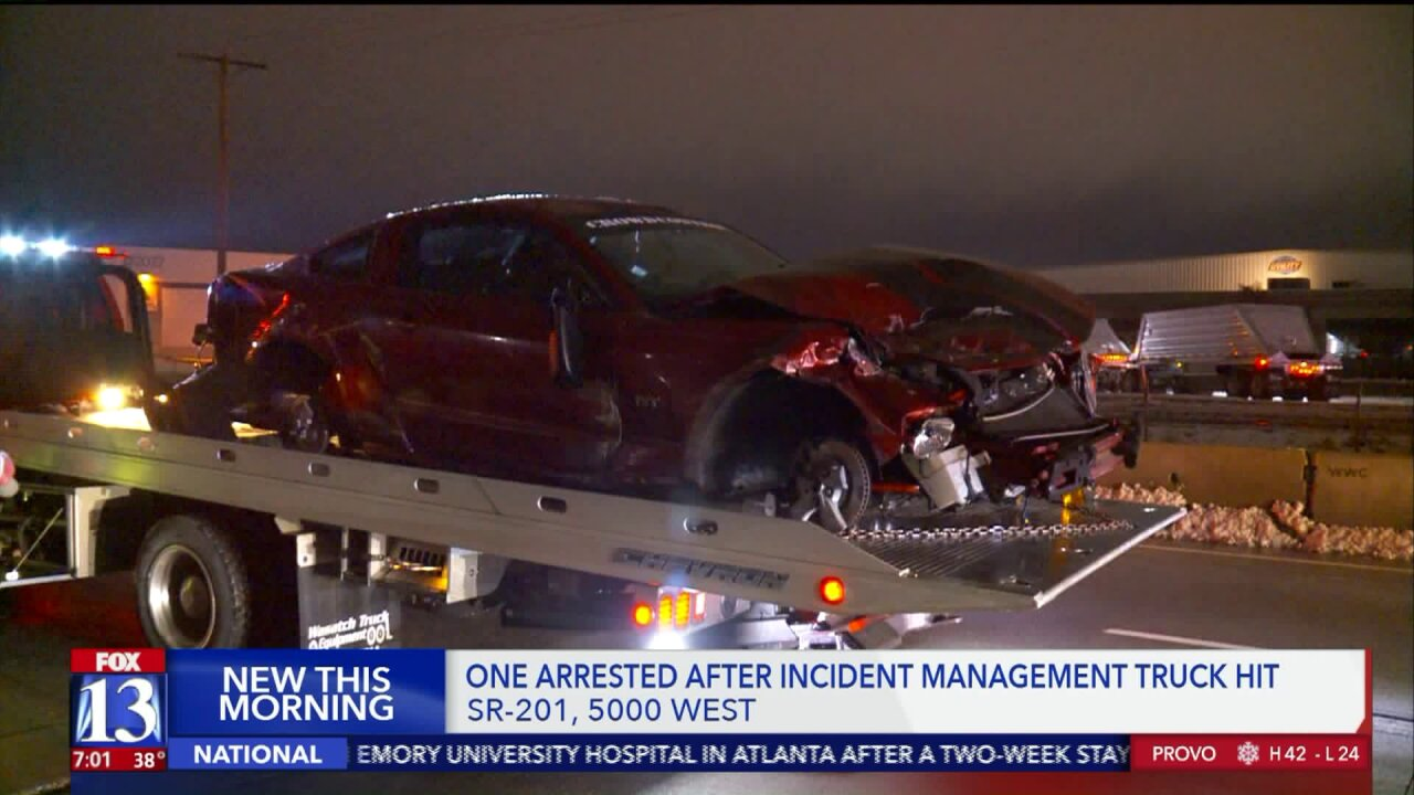 DUI suspect hits Incident Management Truck in Salt Lake Co.
