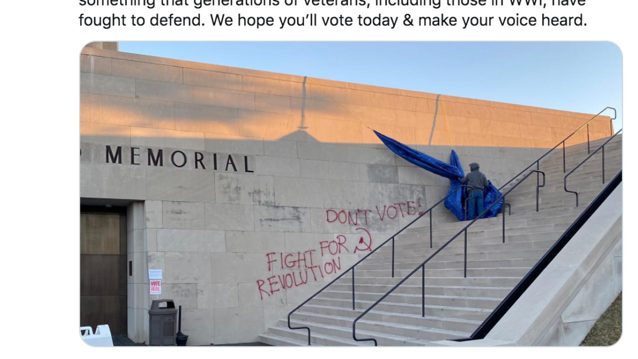 wwi museum and memorial vandalized