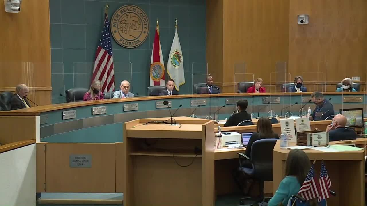 Palm Beach County commissioners vote to require masks in public, June 23, 2020