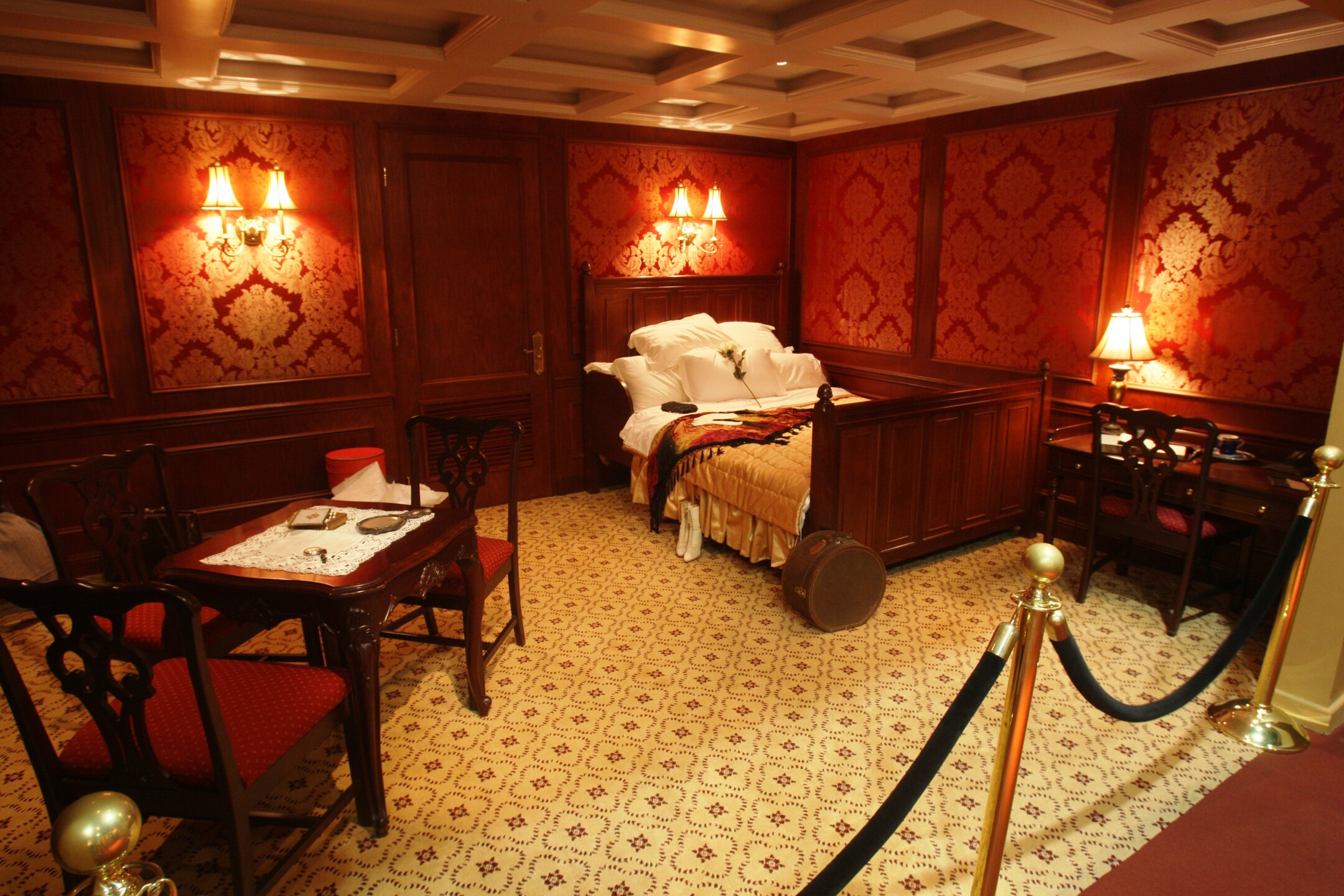 First Class Cabin_Titanic the Artifact Exhibition at Luxor Hotel & Casino.JPG