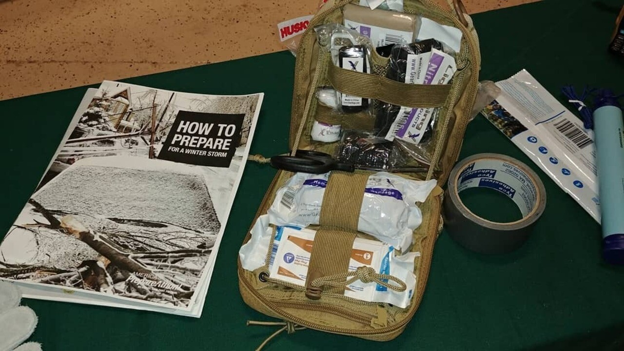 El Paso County's Community Response Team recommends you have a First-Aid kit packed in your emergency kit that can handle deep wounds.