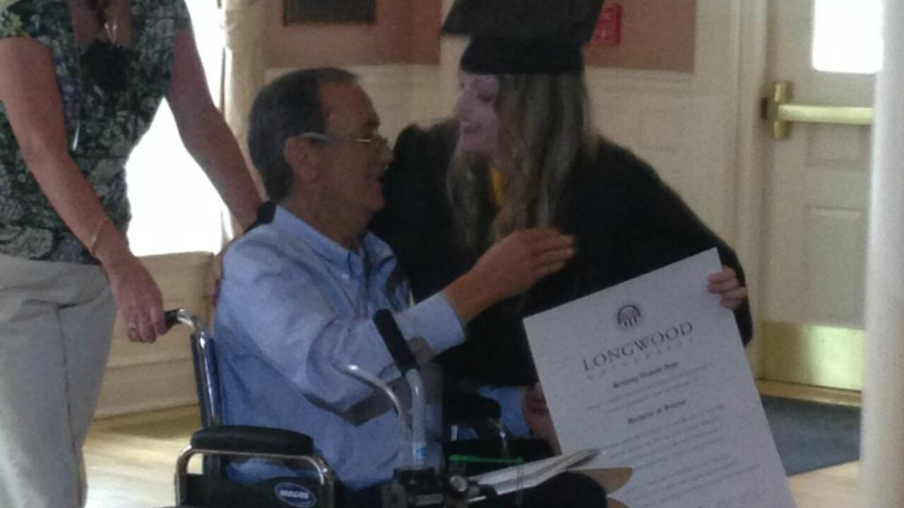Longwood University makes dream come true for dying father, graduating daughter