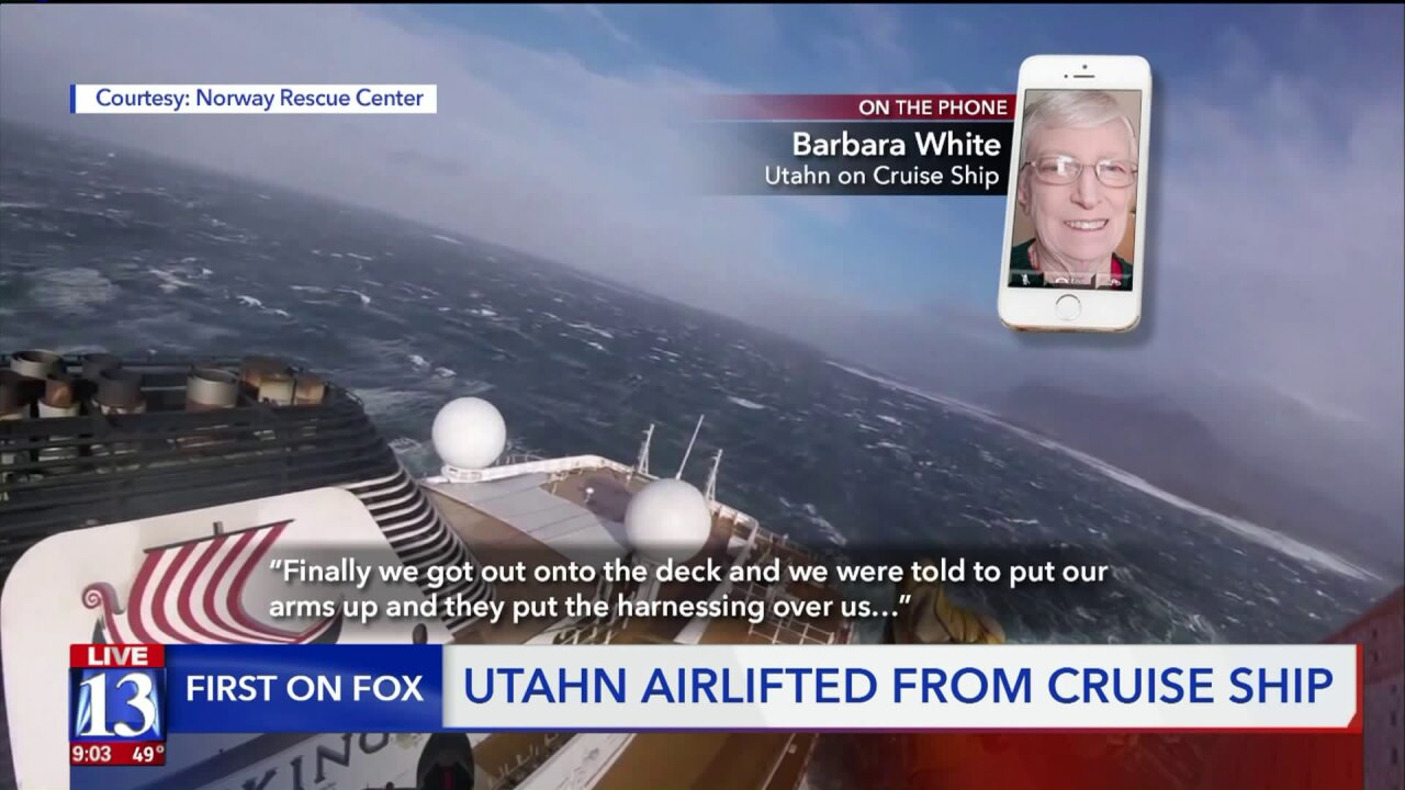 'My eyes were screwed shut' – Utah woman speaks on rescue from Norway cruiseship