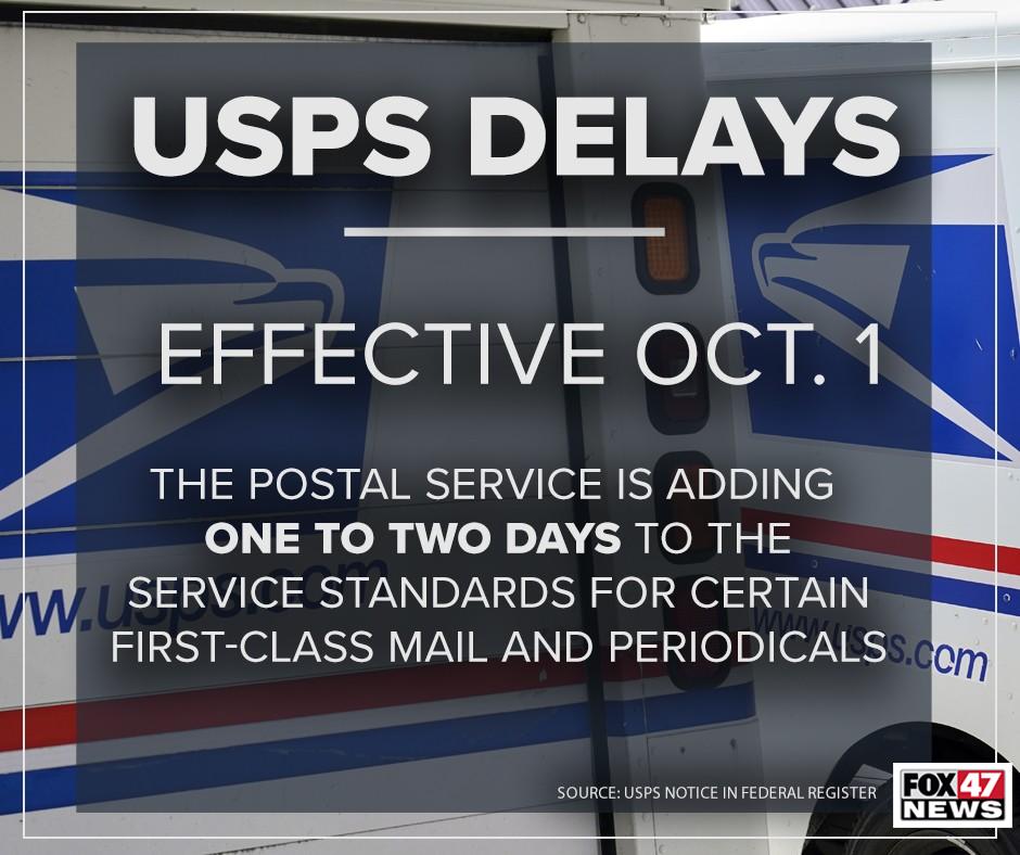 USPS delays effective October 1