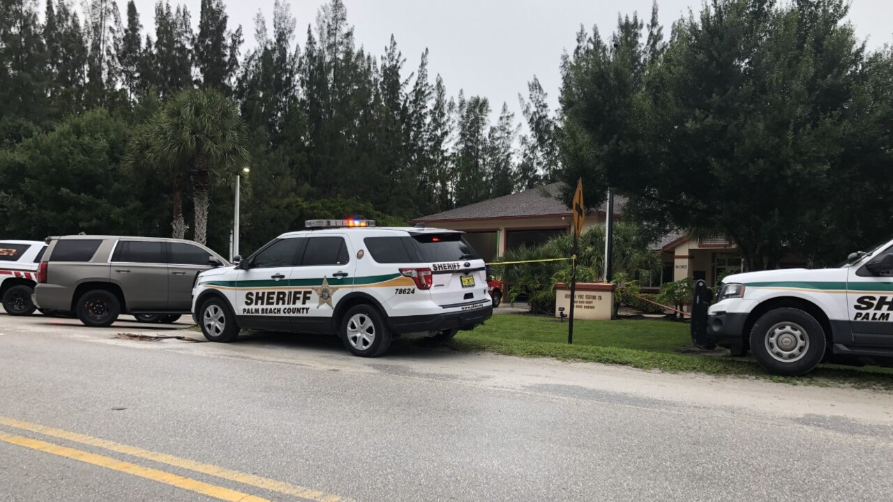 Deputies respond to Palm Beach County Fire Rescue Station #26, located at 6085 Avocado Boulevard, on July 12, 2021.jpg