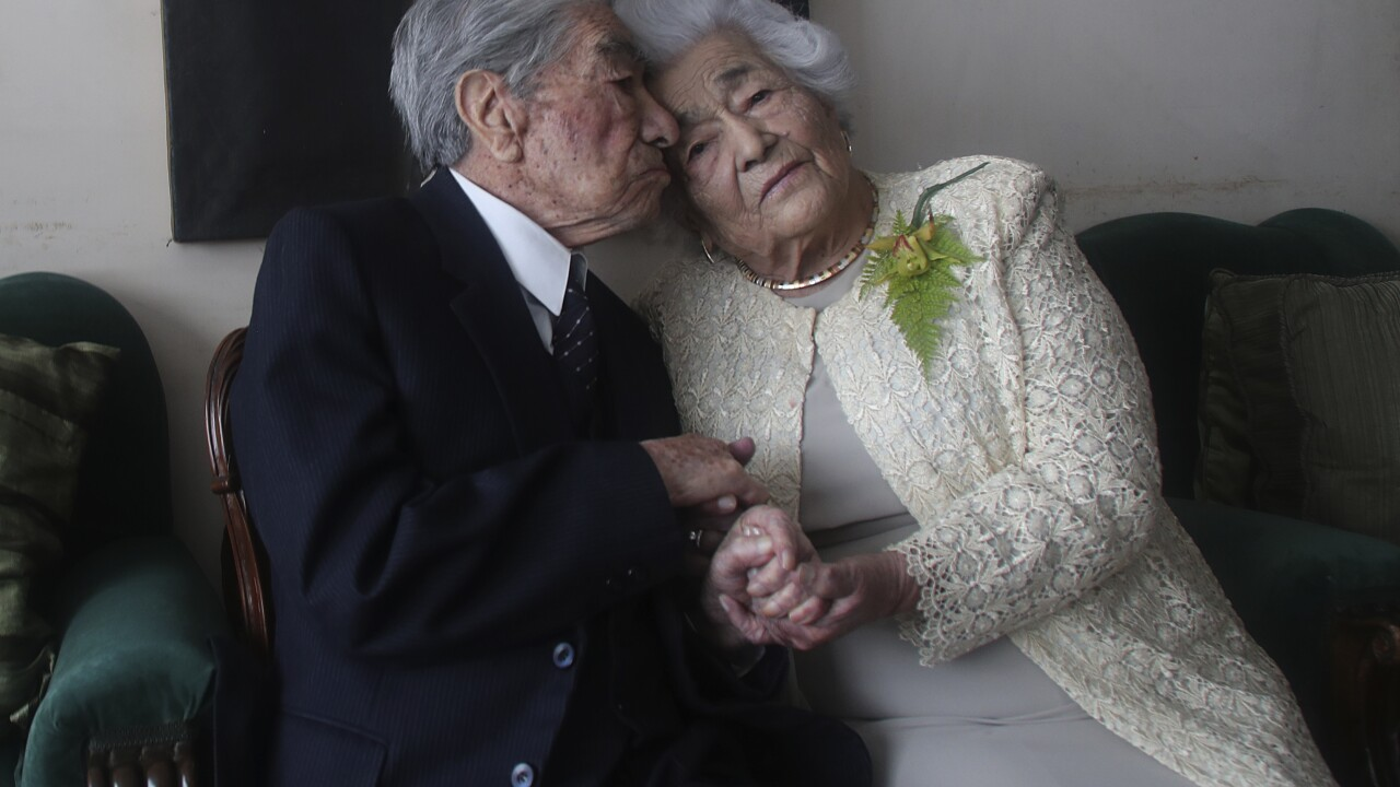 Ecuador couple certified as oldest married pair, nearly 215