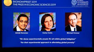 Nobel Prize in economics awarded to trio for work onpoverty