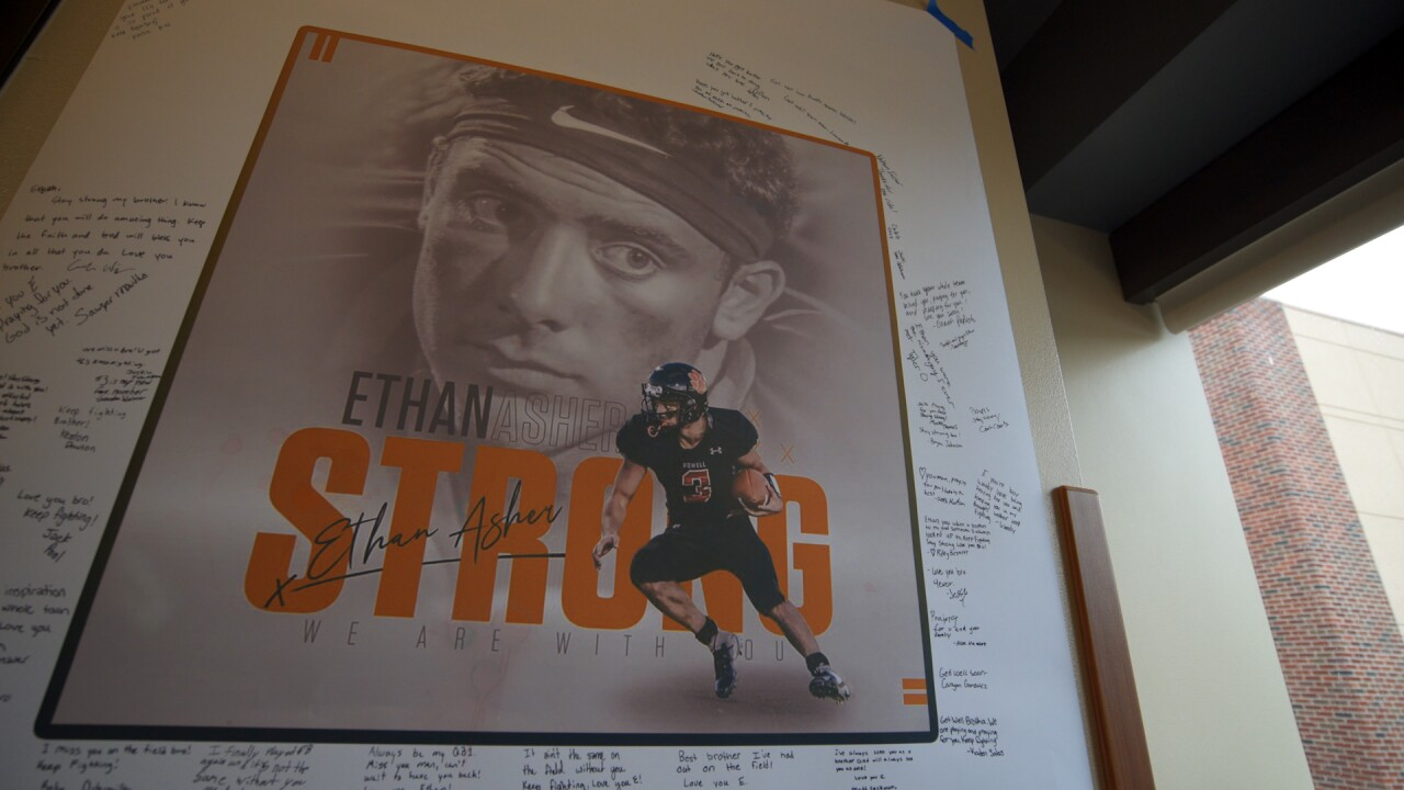 #EthanStrong: Powell community rallies behind star quarterback seriously hurt in car wreck