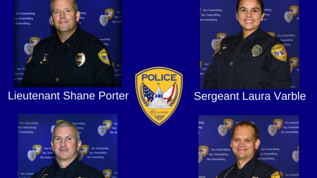 Four TPD officers sworn in to new positions