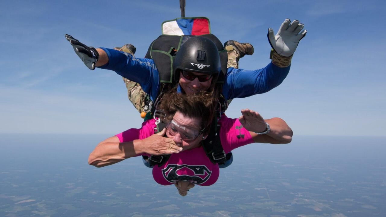 Portsmouth woman diagnosed with ALS crosses skydiving off her bucket list