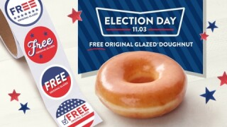 Krispy Kreme offering free glazed doughnuts on Election Day