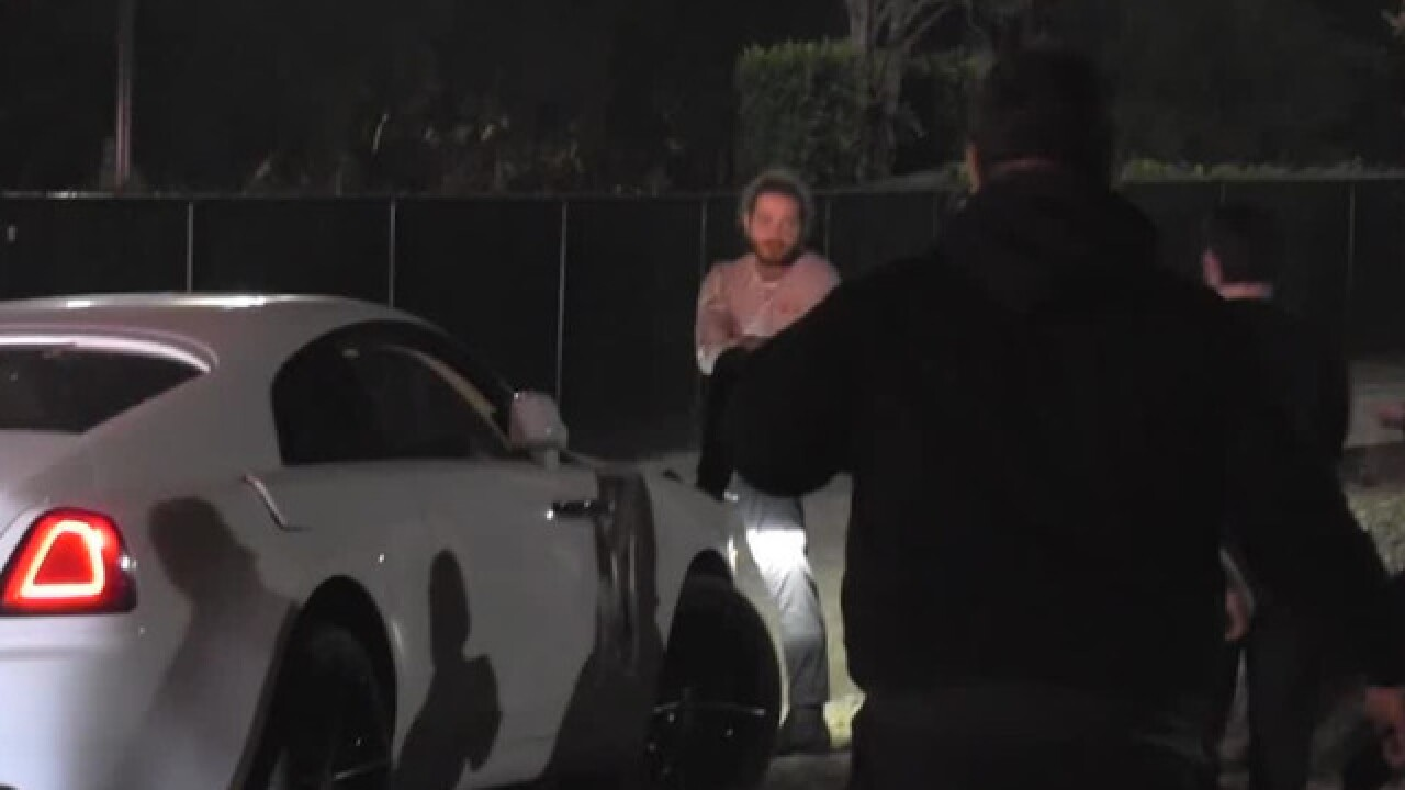 Post Malone uninjured in car crash