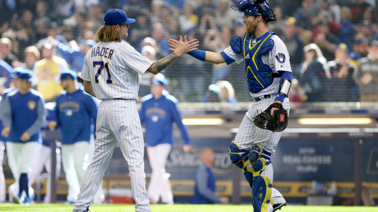 Brewers' Josh Hader named MLB reliever of month