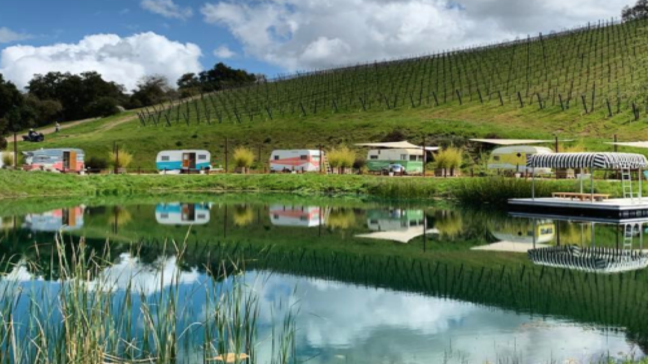 You And Your Besties Can Stay In Vintage Campers At A Scenic Vineyard