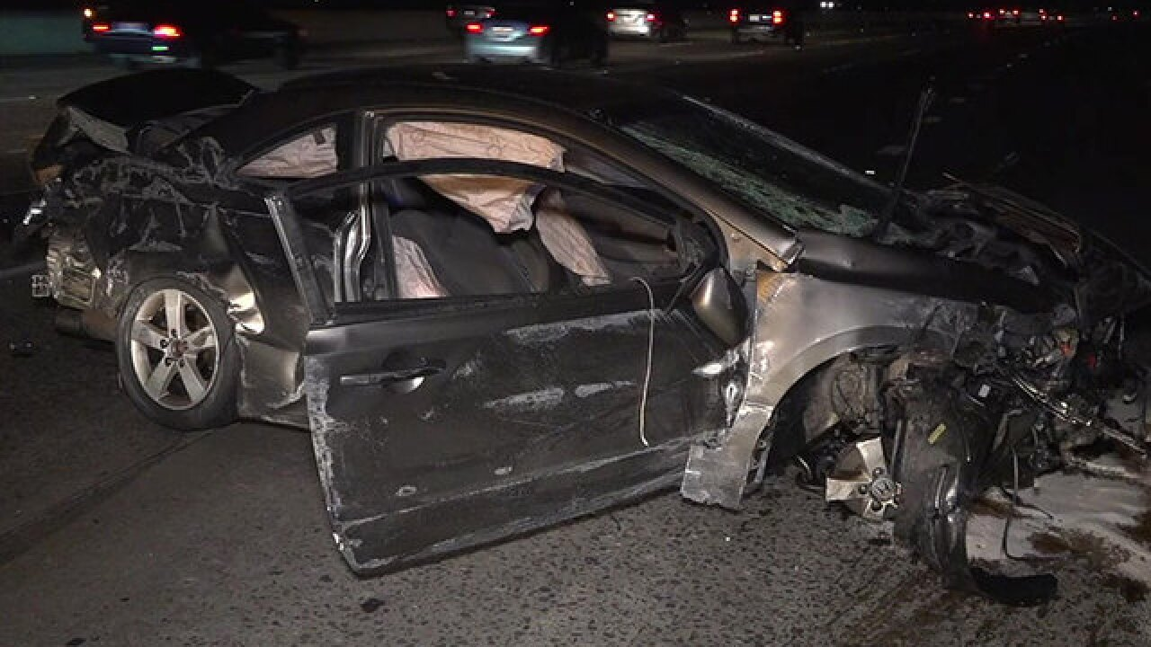 Crash on I-15 South near 163