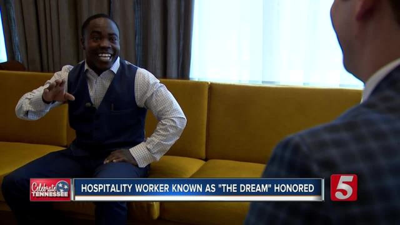 Nashville bellman honored for hospitality
