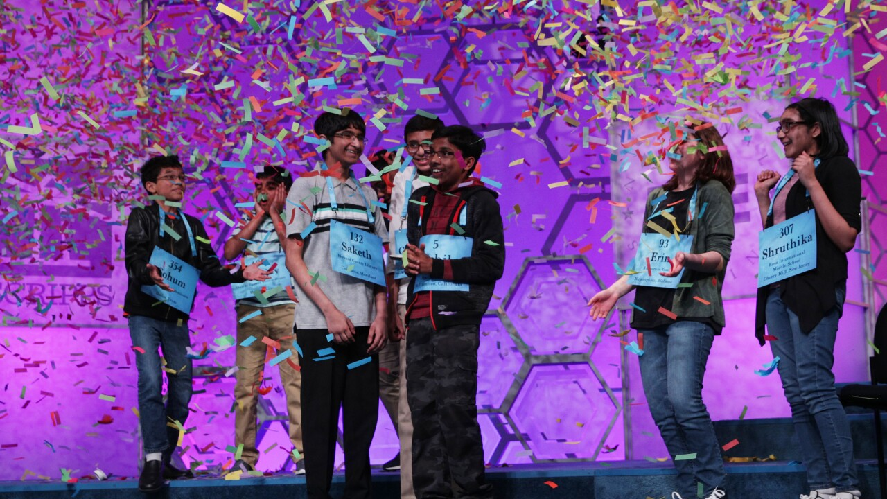 Scripps National Spelling Bee octo-champs describe the night the 'dictionary lost'