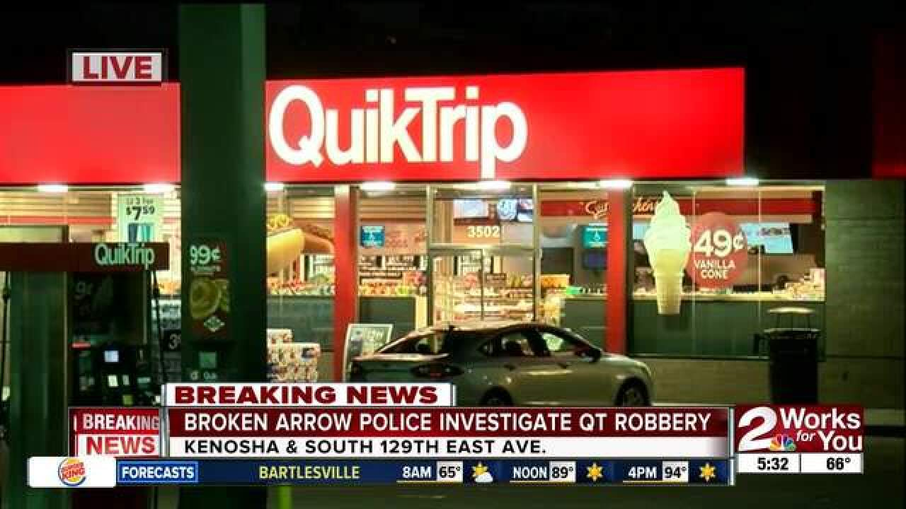 Broken Arrow Police look for QT robbery suspects