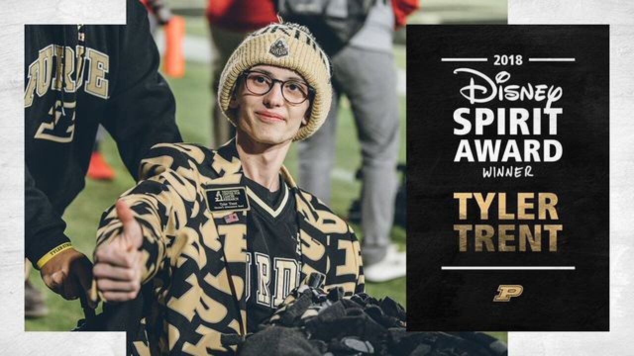 Tyler Trent named Disney Spirit Award winner