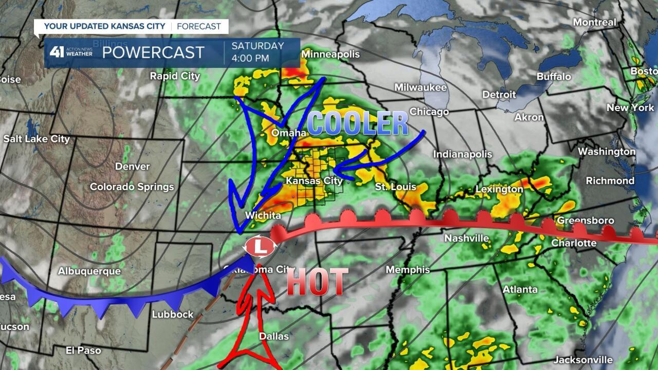 Surface Forecast Saturday