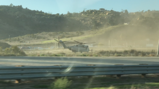 Super Stallion lands in field near I-15 and Highway 76
