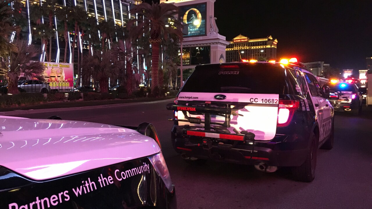Las Vegas Police and volunteers search The Strip for human trafficking victims on a busy Super Bowl weekend