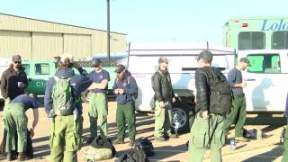 Montana hotshot crews leave to fight Canadian wildfires