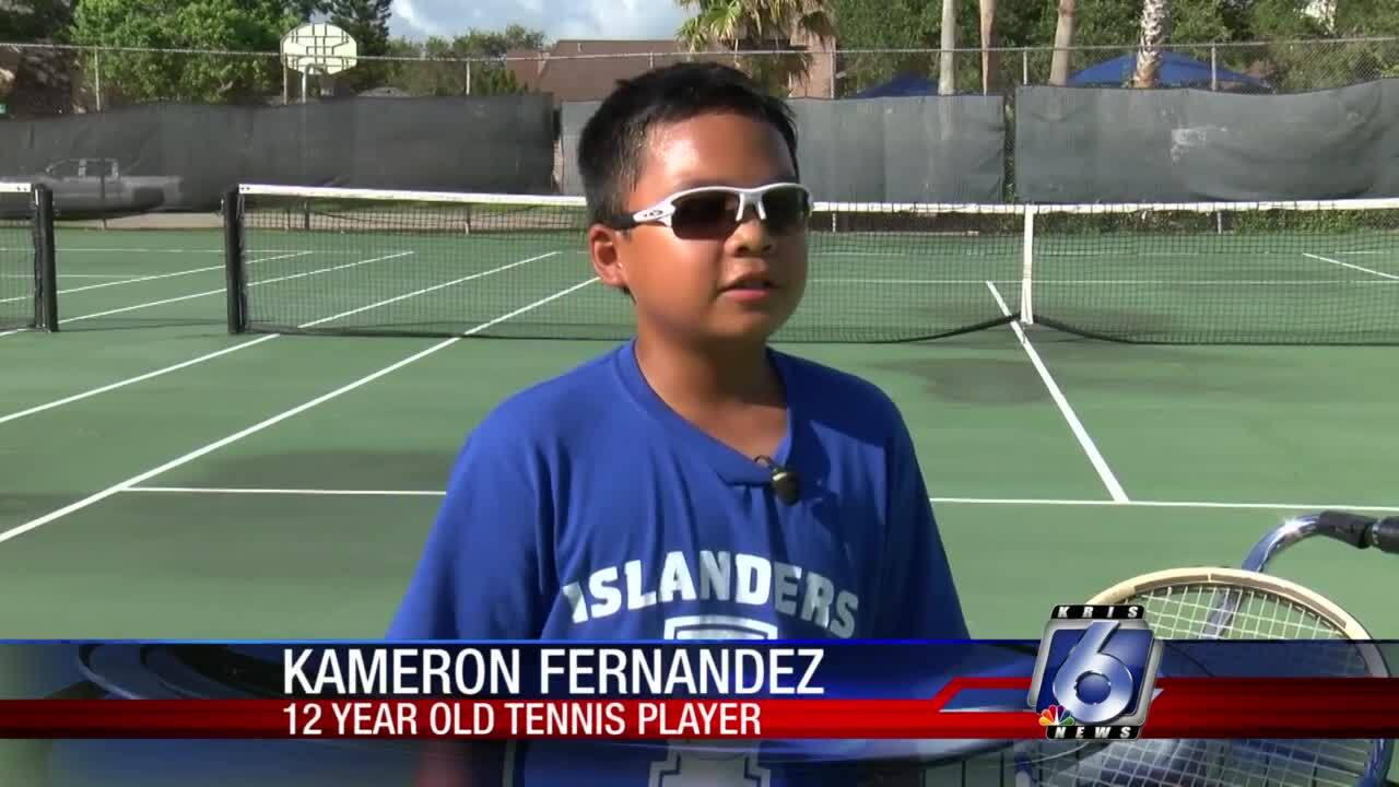 12-year-old tennis prodigy awes observers with early talent