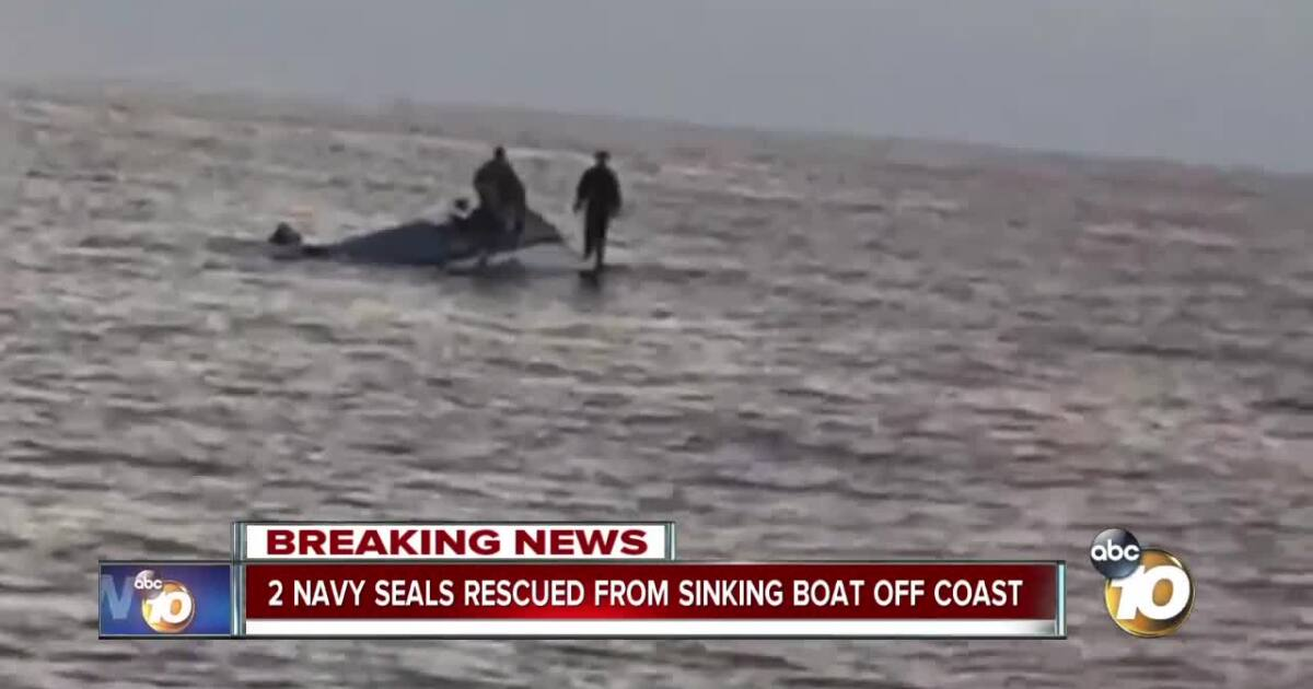 2 Navy SEALs rescued from sinking fishing boat