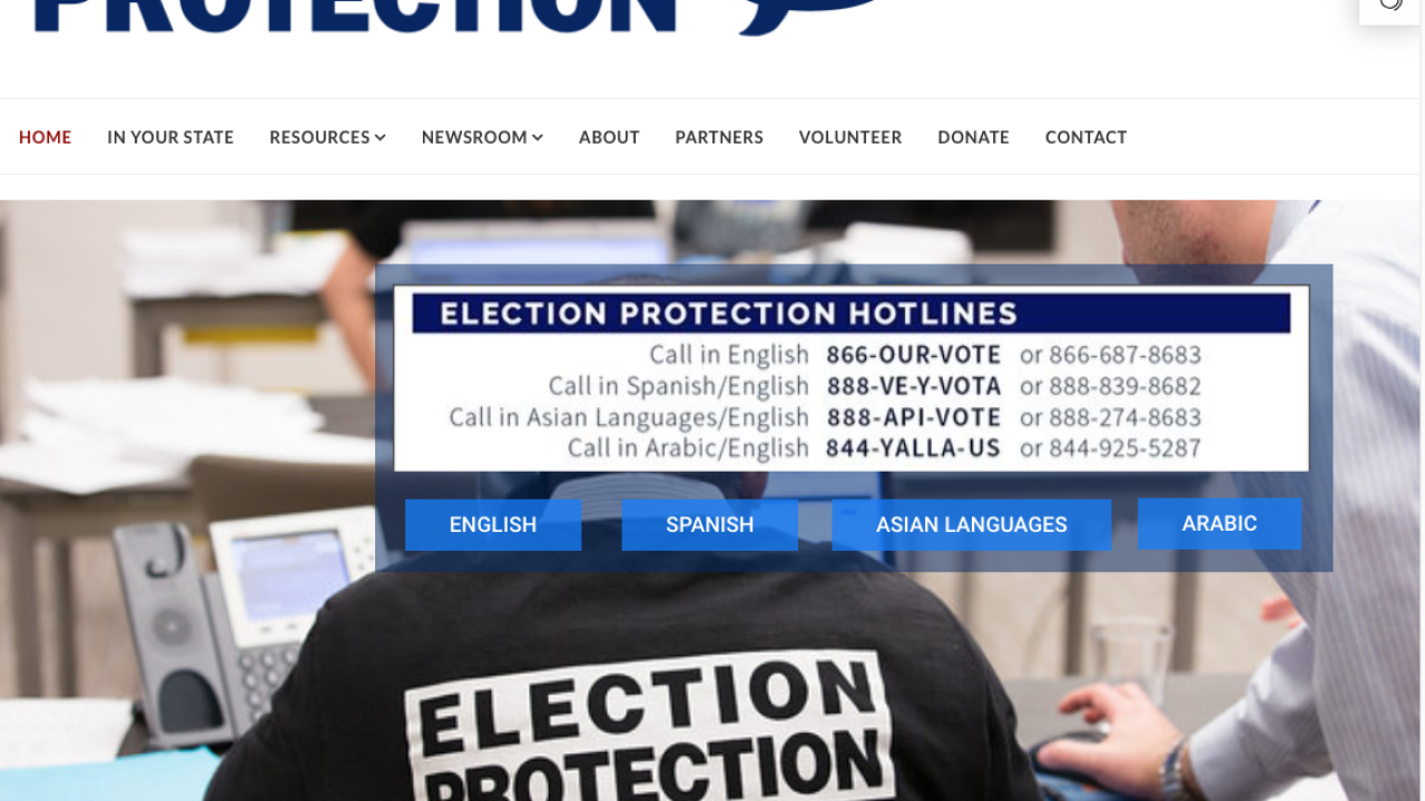 election protection hotline