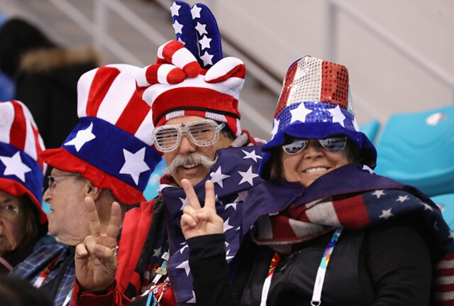 U-S-A! These are the rowdiest American fans at the 2018 Winter Olympics