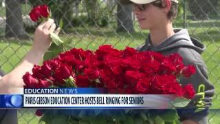 Paris Gibson Education Center celebrates seniors with bell-ringing ceremony