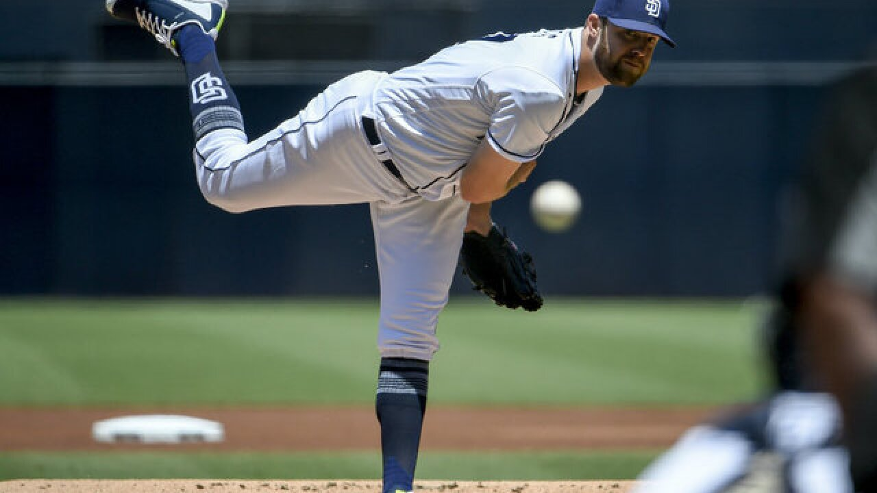 Padres' Jordan Lyles comes within 5 outs of franchise's first perfect game