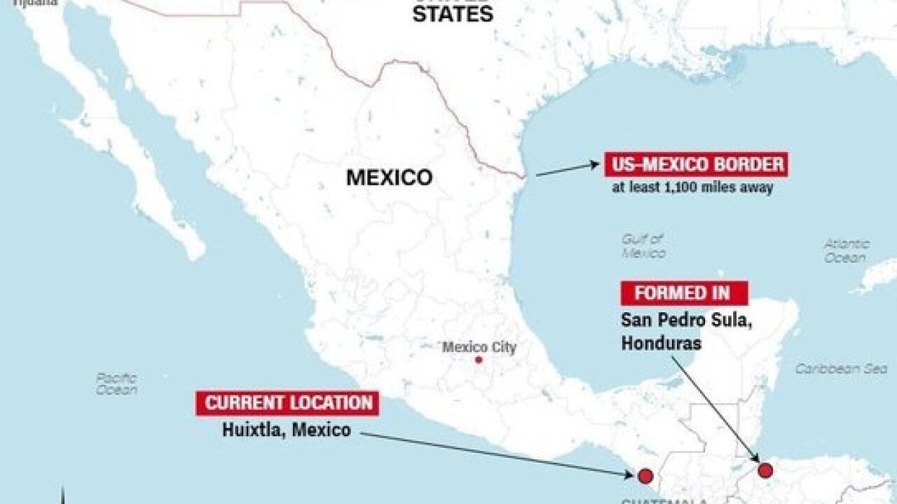 The Caravan Could Be Weeks Away From The Us Border - Mexico-and-us-border-map
