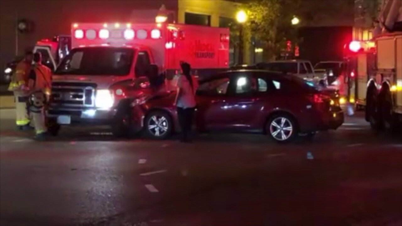 Ambulance, car collide at Norfolkintersection